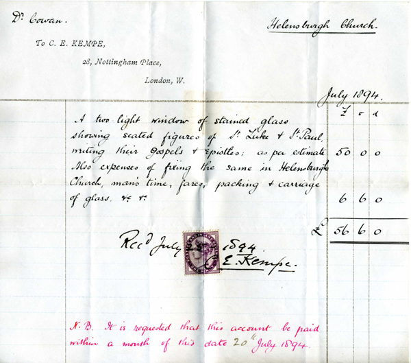 1894-Church-invoice